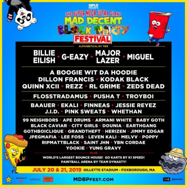 G-eazy, Pusha T, Miguel & More To Perform At 2019 Mad Decent Block Party