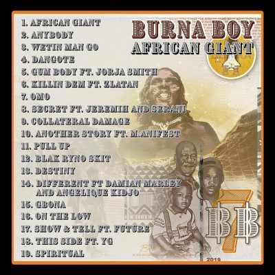 """Burna Boy Features YG, Future, Jeremih, Jorja Smith On His New """"African Giant"""" Album 