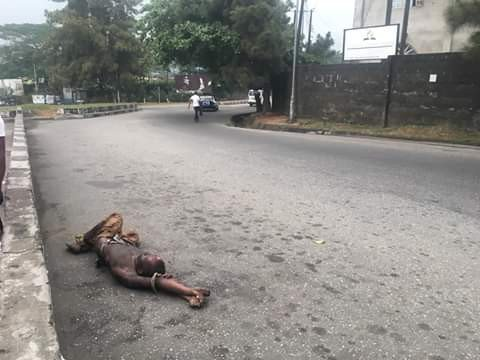 Image result for Corpse of suspected petty criminal found dumped on the street in Calabar""