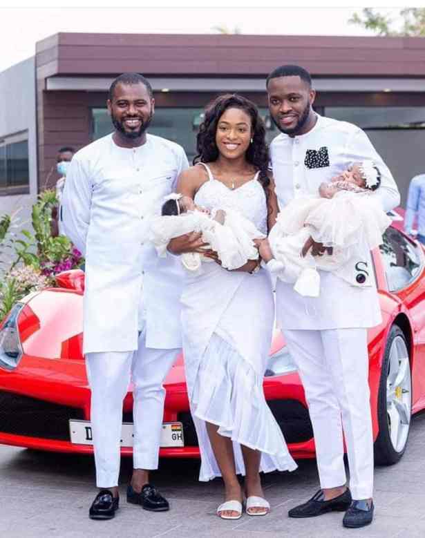 More photos of Kennedy Osei, his twins and wife surfaces