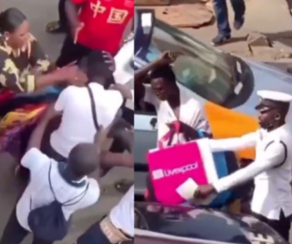 VIDEO: Pickpocket battered by woman he tried to rob