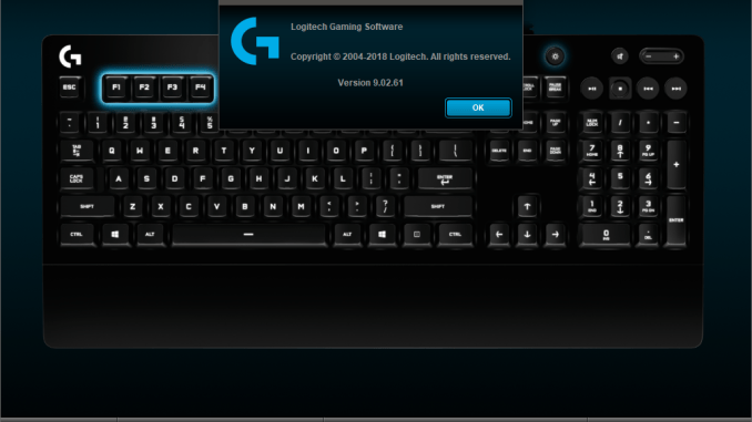Logitech fails to save settings for mouse, keyboard mappings