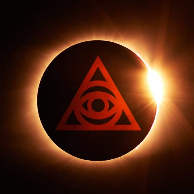 simbolo piramide con occhio, illuminati