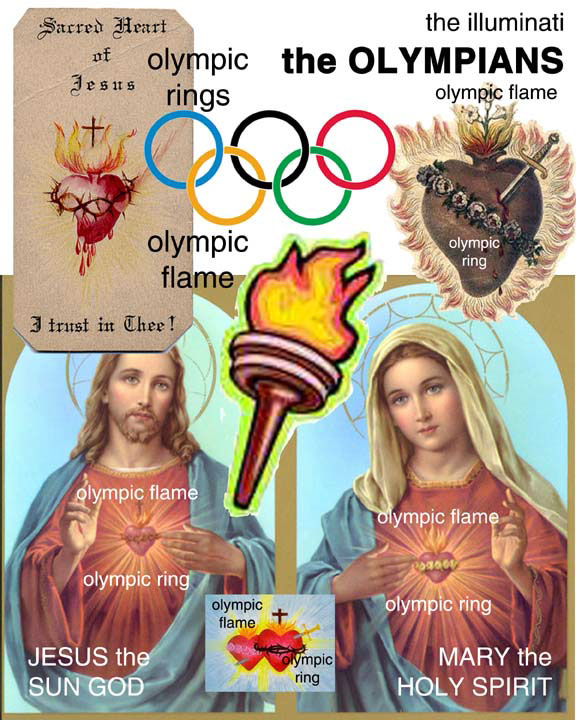Olympic Flaming Blood Heart