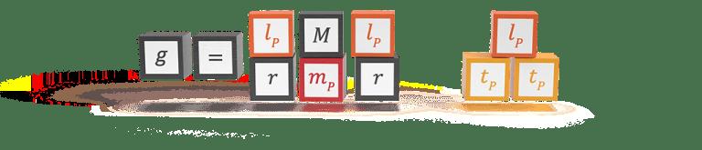 The natural formula for gravitational acceleration in Planck units