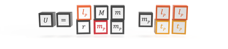 The natural formula for gravitational energy in Planck units