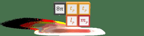 Einstein gravitational constant shown in elementary Planck units