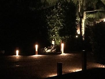 Rusty Slots 1 - illuminating Gardens, Garden Lighting Installation Gallery