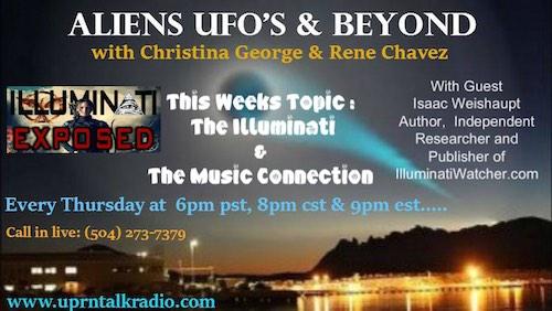 Aliens UFOs Beyond Isaac Weishaupt show