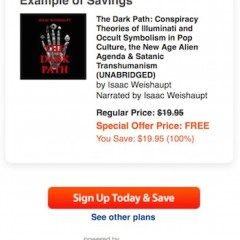 THE DARK PATH Audible Download Code Giveaway Contest