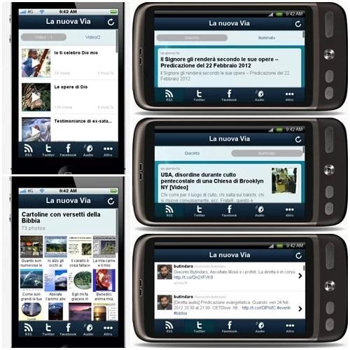 """app lanuovavia L'app """"La nuova Via"""" disponibile gratuitamente sull'Android Market"""