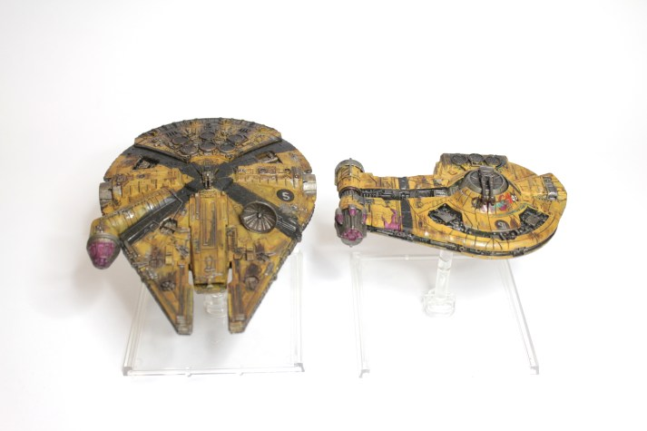 Millenium Falcon and YT-2400 Freighter