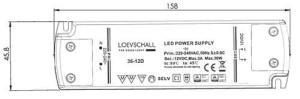 LED Driver 12V 240V 6-36W Dimbar 12 Uttak