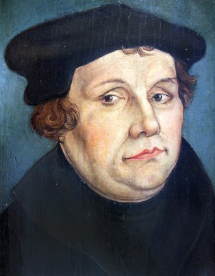 A portrait of Martin Luther.