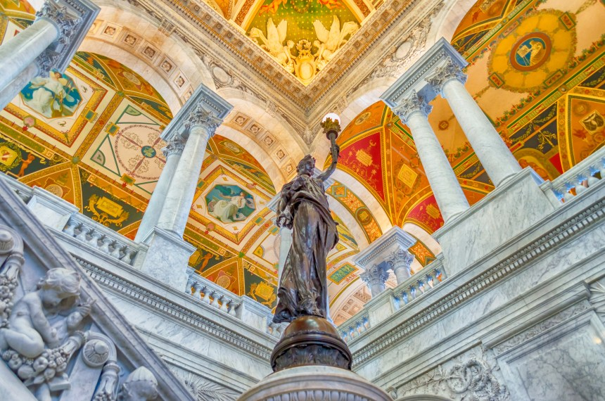 Library of Congress Main Hall Washington DC, USA Photo by Marco Rubino Pond5