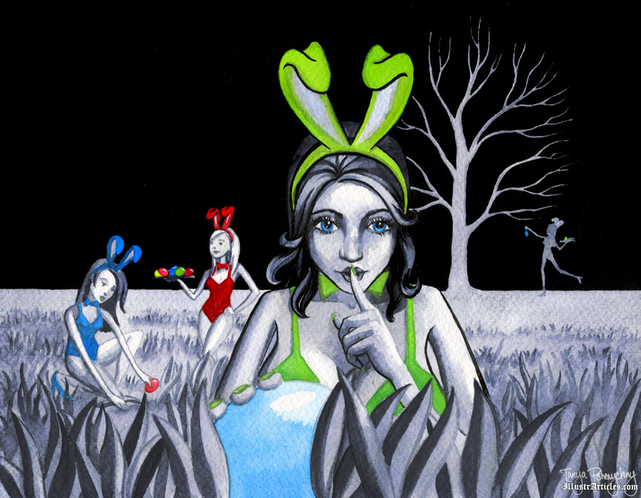 Easter Bunny's Little Helpers illustation