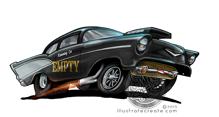 1957 running on empty gasser