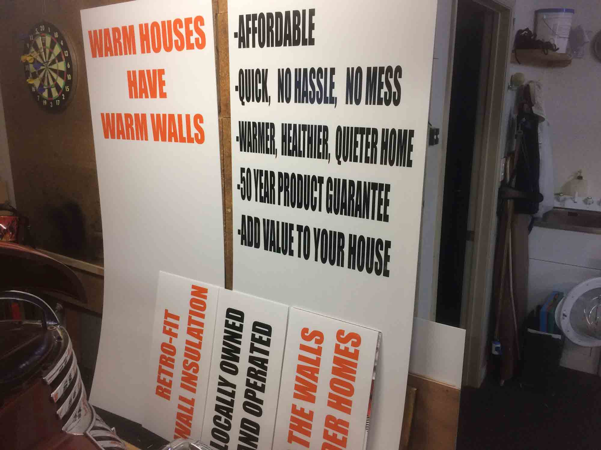 Vinyl Signs on Corflute perfect for temporary signs Papamoa Mt Maunganui Tauranga Bay of Plenty New Zealand