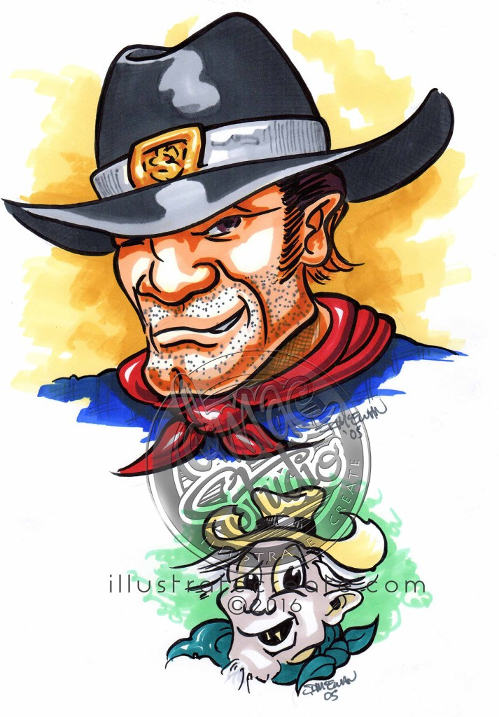 Cowboy art cartoon