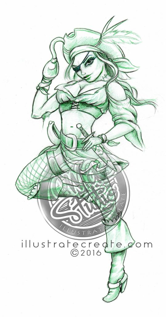 Pirate concept sketch