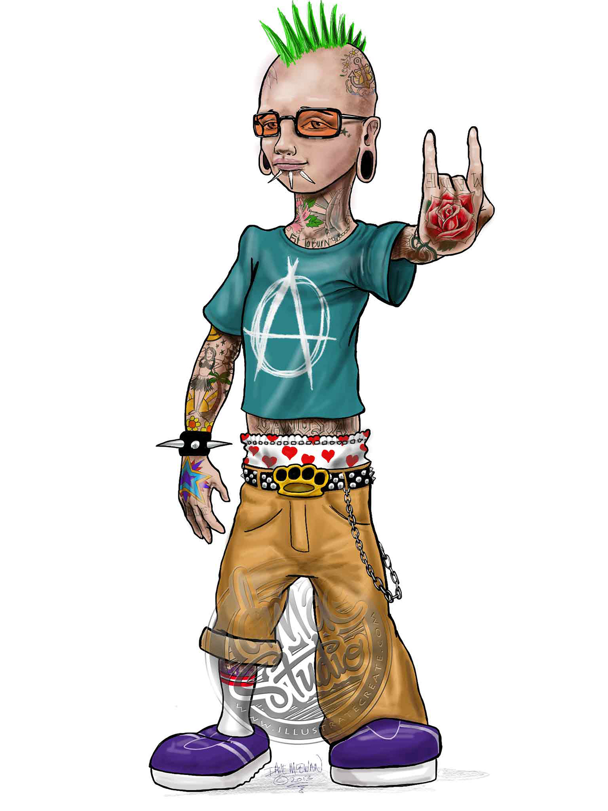 Cartoon punk
