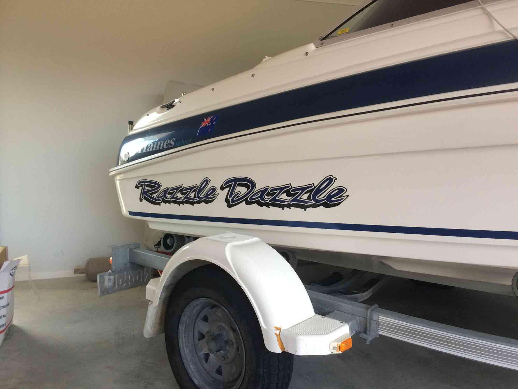 Boat signage bay of plenty tauranga mount maunganui NZ