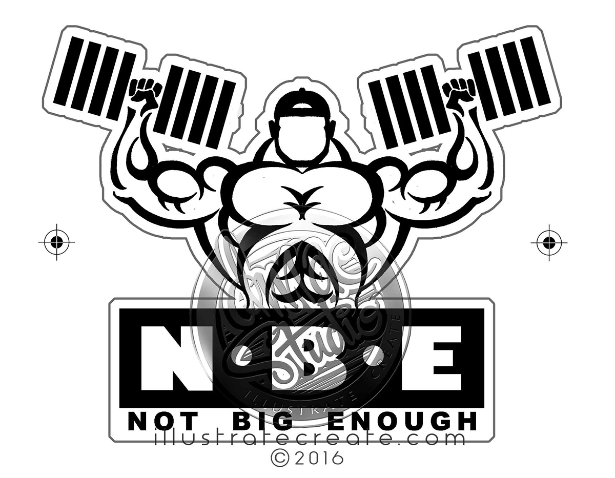 body building logo design