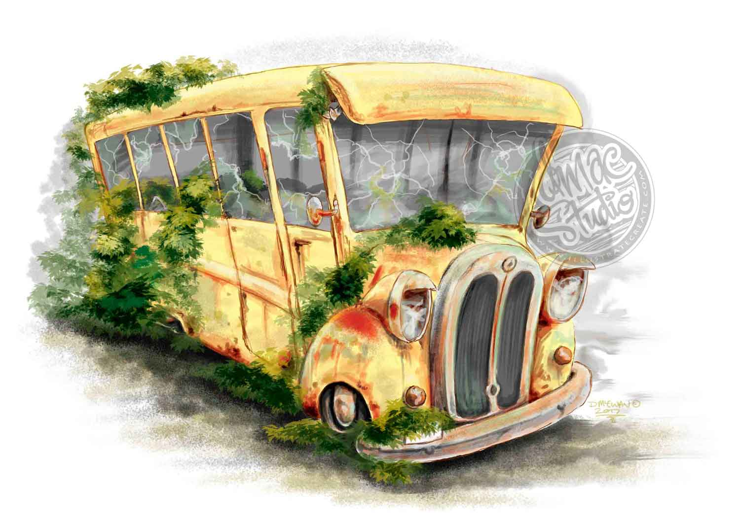 Cartoon Bus movie concept art film
