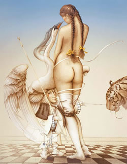 Michael Parkes lithographic artist