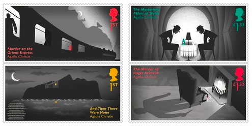 Agatha Christie Royal Mail Stamps