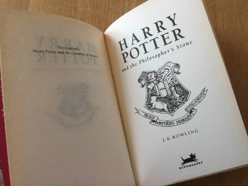 Harry Potter and the Philosopher's Stone first edition