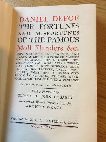 Moll Flanders, illustrated by Arthur Wragg