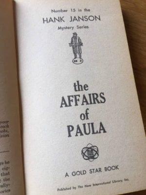 Hank Janson, The Affairs of Paula, vintage paperback
