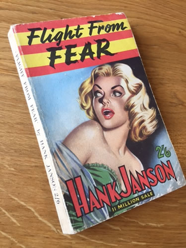 Hank Janson paperback, Flight from Fear