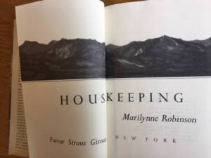 Housekeeping, Marilynne Robinson, first edition