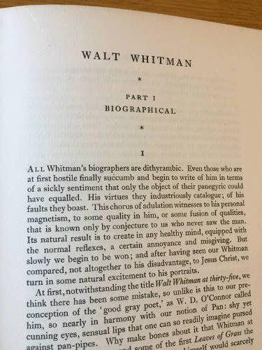 Walt Whitman a Study and a Selection