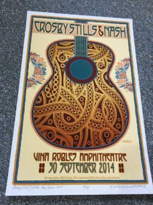 Crosby, Stills & Nash Poster by David Byrd