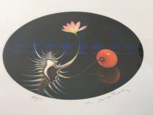 Japanese artist Nobuo Satoh, Mezzotint