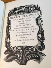 Here's Flowers, Golden Cockerel Press