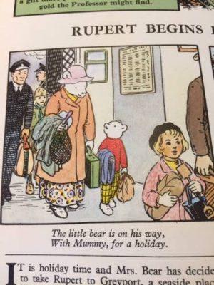1972 Rupert Annual, Rupert and his mum