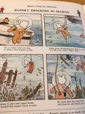 1972 Rupert on an adventure