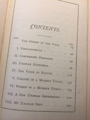 H G Wells, A Modern Utopia, Signed book