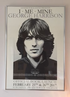 I, Me, Mine, George Harrison, Shepard Fairey poster