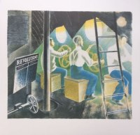 Ravilious Submarine, Diving Controls 1, Camberwell Press Lithograph