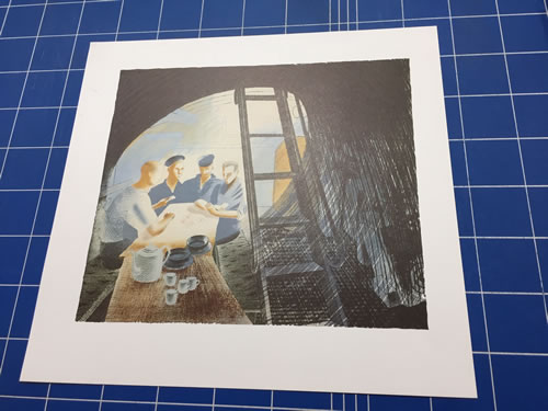 Eric Ravilious, Submarine, Ward Room 2, Lithograph