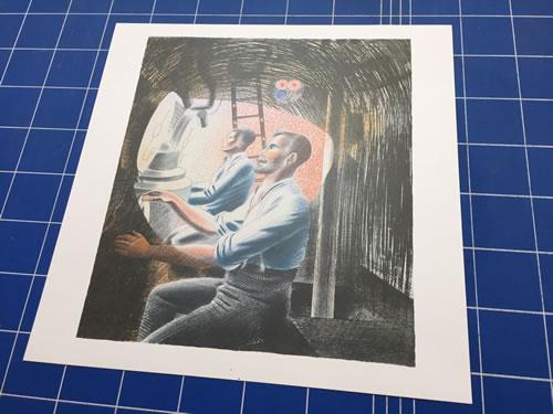 Eric Ravilious, submarine lithograph, Diving Controls 2