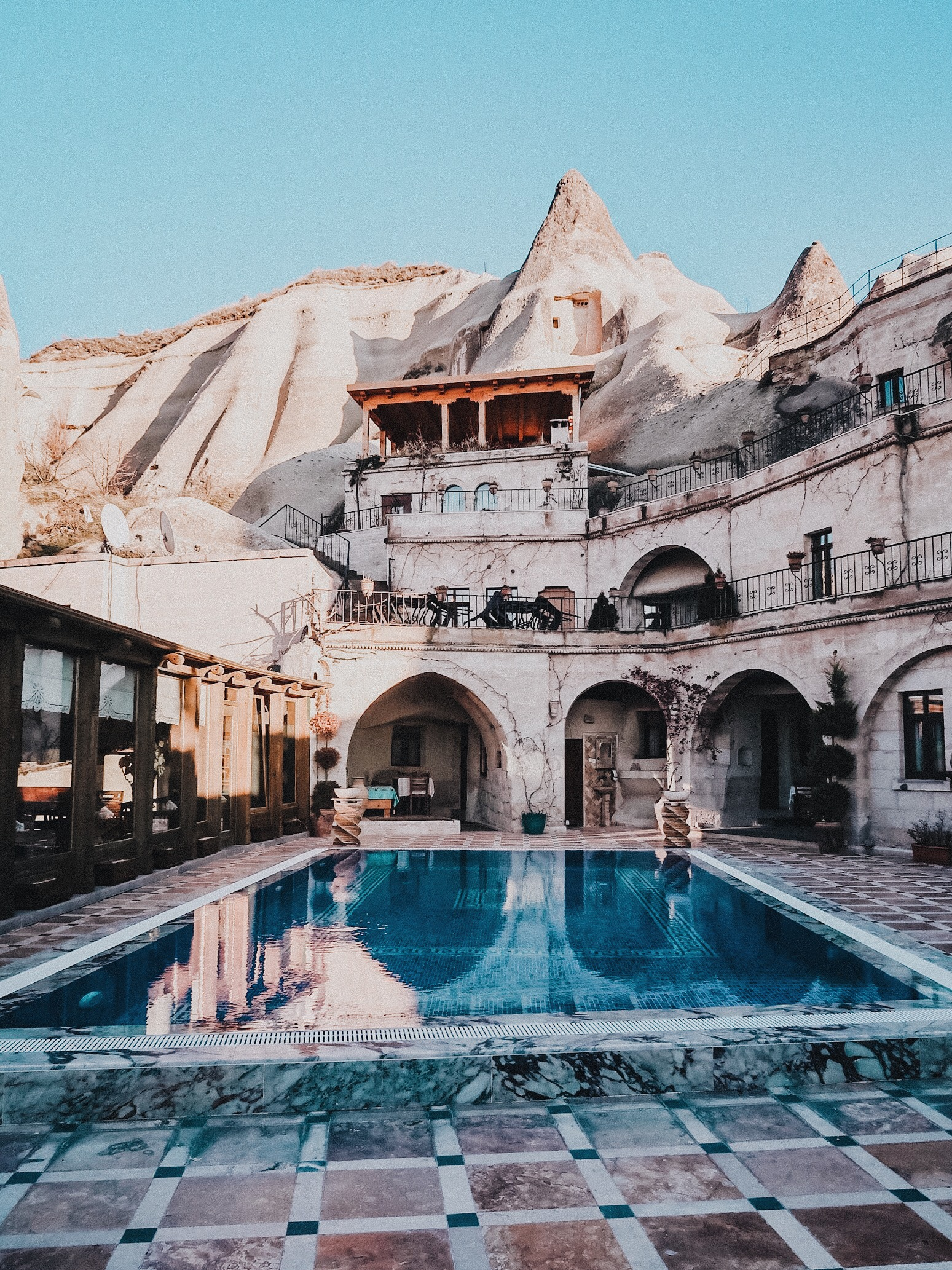 Illustrated by Sade - Incredible pool at the Local Cave House in Cappadocia