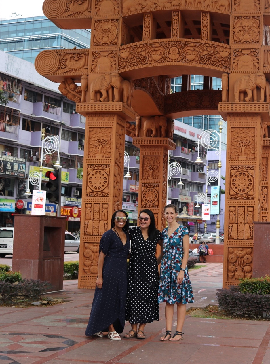 Illustrated by Sade - Women posing for a photo in Little India, KL