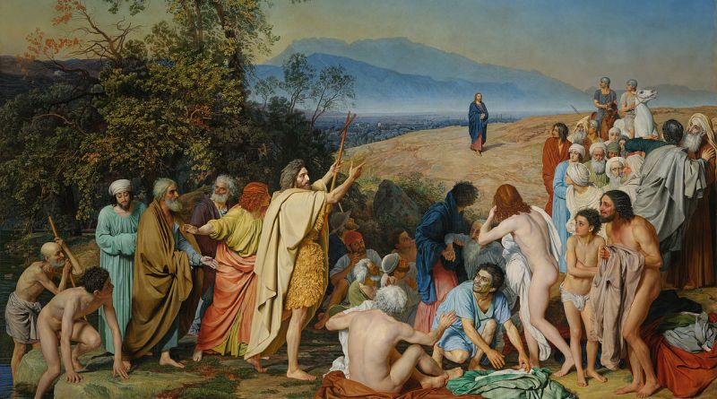 The Appearance of Christ Before the People, by Alexander Andreyevich Ivanov, c. 1837–1857. Tretyakov Gallery, Moscow, Russia. Via IllustratedPrayer.com