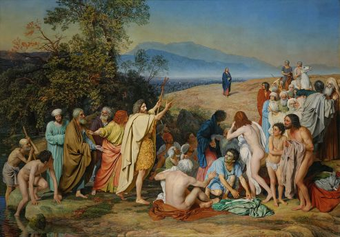 The Appearance of Christ Before the People, by Alexander Andreyevich Ivanov, c. 1837–1857. Tretyakov Gallery, Moscow, Russia.